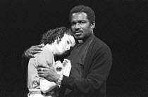 'ROMEO AND JULIET' (Shakespeare - directors: David Thacker/Jeremy Bell)~Sarah-Jane Fenton (Juliet), Rudolph Walker (Friar Laurence)~Young Vic Theatre, London SE1                   26/10/1987