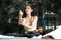 ROMEO AND JULIET by Shakespeare design: Alison Chitty lighting: Jean Kalman director: David Leveaux ~IV/iii - Juliet realises Romeo has poisoned himself: Claire Holman (Juliet), Michael Maloney (Romeo...