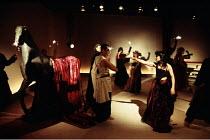 ROMEO AND JULIET by Shakespeare - adapted & directed by Rina Yerushalmi set design: Moshe Sternfeld costumes: Rakefet Levi lighting: Avi-Yona Bouneo ~the masked ball~Itim Theatre Ensemble, Tel Aviv, I...