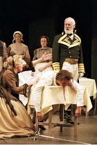 ROMEO AND JULIET by Shakespeare design: Kendra Ullyart lighting: Hugh Vanstone  fights: Terry King  movement: Sue Lefton  director: Adrian Noble ~III/i - left: Darlene Johnson (Lady Capulet)   dead, o...