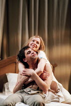 ROMEO AND JULIET by Shakespeare design: Kendra Ullyart lighting: Hugh Vanstone  fights: Terry King  movement: Sue Lefton  director: Adrian Noble ~Zubin Varla (Romeo), Lucy Whybrow (Juliet)~Royal Shake...