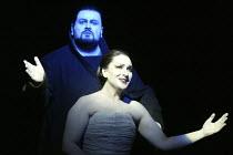 'AIDA' (Verdi - conductor: Antonio Pappano   director/design/lighting: Robert Wilson)~final scene - entombed: Johan Botha (Radames), Norma Fantini (Aida)~The Royal Opera / Covent Garden, London WC2...