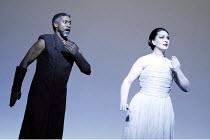 'AIDA' (Verdi - conductor: Antonio Pappano   director/design/lighting: Robert Wilson)~Mark S. Doss (Amonasro), Norma Fantini (Aida)~The Royal Opera / Covent Garden, London WC2          08/11/2003