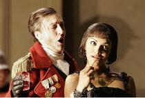 'GIULIO CESARE' (Handel - conductor: William Christie   director: David McVicar),l-r: Sarah Connolly (Giulio Cesare), Danielle de Niese (Cleopatra),Glyndebourne Festival Opera / East Sussex, England...