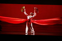 MADAM BUTTERFLY   by Puccini   conductor: David Parry   director: Anthony Minghella,opening sequence: Bunraki dancer,English National Opera / London Coliseum  WC2         05/11/2005,