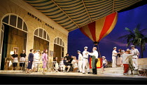THE ELIXIR OF LOVE (L^ELISIR D^AMORE)   by Donizetti   conductor: Tecwyn Evans   director: Daniel Slater<br>,front left: Susanna Andersson (Gianetta), Anna Ryberg (Adina)   front centre: Riccardo Simo...