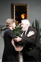 GHOSTS   by Ibsen   in a new version  by Frank McGuinness   director: Robert Bowman <br>,l-r: Simon Shepherd (Pastor Manders), John Stahl (Engstrand),Bristol Old Vic / Bristol, England...
