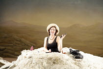 HAPPY DAYS (OH LES BEAUX JOURS)   by Samuel Beckett   director: Deborah Warner   set design: Tom Pye   lighting design: Jean Kalman <br>,Fiona Shaw (Winnie),Lyttelton Theatre / National Theatre, Londo...