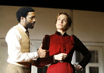 THE SEAGULL by Chekhov   in a new version by Christopher Hampton   director: Ian Rickson <br>,Chiwetel Ejiofor (Trigorin), Kristin Scott Thomas (Arkadina),Jerwood Theatre Downstairs / Royal Court Thea...