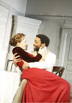 THE SEAGULL by Chekhov   in a new version by Christopher Hampton   director: Ian Rickson <br>,Kristin Scott Thomas (Arkadina), Chiwetel Ejiofor (Trigorin),Jerwood Theatre Downstairs / Royal Court Thea...