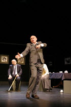 SIT AND SHIVER   written & directed by Steven Berkoff <br>,Steven Berkoff (Lionel) with (seated, rear) Barry Davis (Sam),Hackney Empire, London E8       29/01/2007,