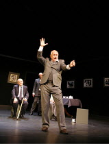 SIT AND SHIVER   written & directed by Steven Berkoff <br>,Steven Berkoff (Lionel) with (rear, l-r) Barry Davis (Sam), Frank Lazarus (Morris),Hackney Empire, London E8       29/01/2007,