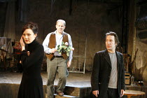 UNCLE VANYA   by Chekhov   adapted by David Mamet   director: Hugh Fraser <br>,l-r: Rachael Stirling (Yelena), Colin Stinton (Vanya), Ronan Vibert (Astrov),Wilton^s Music Hall, London E1...
