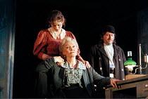 Sheila Hancock (Vassa) with Anne-Marie Duff (Lyudmilla), Richard O'Callaghan (Mikhail) in VASSA by Maxim Gorky at the Albery Theatre, London WC2  20/01/1999  an Almeida Theatre Company production  ad...