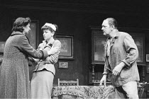 'A VIEW FROM THE BRIDGE' (Arthur Miller - director: Alan Ayckbourn)~l-r: Elizabeth Bell (Beatrice), Suzan Sylvester (Catherine), Michael Gambon (Eddie Carbone)~National Theatre production / Aldwych Th...