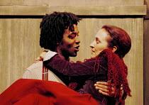 'PEER GYNT' (Ibsen)~Chiwetel Ejiofor (Peer Gynt), Olwen Fouere (Solveig)~Royal National Theatre/Olivier Theatre, London  13/11/2000