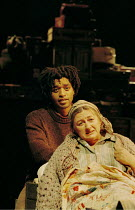 'PEER GYNT' (Ibsen)~Chiwetel Ejiofor (Peer Gynt), Sorcha Cusack (Ase)~Royal National Theatre/Olivier Theatre, London  13/11/2000