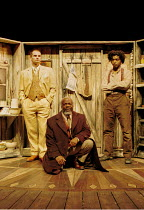 'PEER GYNT' (Ibsen)~3 Peers, l-r: Patrick O'Kane, Joseph Marcell, Chiwetel Ejiofor~Royal National Theatre/Olivier Theatre, London  13/11/2000