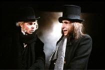 PEER GYNT by Henrik Ibsen in a translation by David Rudkin  design: Chris Dyer  lighting: Leo Leibovici  director: Ron Daniels <br>~l-r: Derek Jacobi (Peer Gynt), Nigel Hawthorne (Solveig's Father/von...