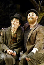 'WAITING FOR GODOT' (Beckett)~l-r: Paul McCleary (Vladimir). David Ganly (Estragon)~Theatre Royal, Northampton                    20/02/2003