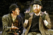 'WAITING FOR GODOT' (Beckett)~l-r: Paul McCleary (Vladimir). David Ganly (Estragon)~Theatre Royal, Northampton                    20/02/2003