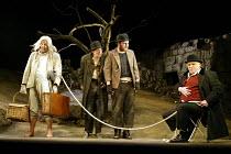 'WAITING FOR GODOT' (Beckett)~l-r: John Cormack (Lucky), Paul McCleary (Vladimir), David Ganly (Estragon), Gerard Murphy (Pozzo)~Theatre Royal, Northampton                    20/02/2003