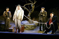 'WAITING FOR GODOT' (Beckett)~l-r: David Ganly (Estragon), John Cormack (Lucky), Paul McCleary (Vladimir), Gerard Murphy (Pozzo)~Theatre Royal, Northampton                    20/02/2003