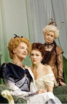 'A WOMAN OF NO IMPORTANCE' (Oscar Wilde - director: Adrian Noble   designer: Peter McKintosh)~l-r: Caroline Blakiston (Lady Caroline Pontefract), Rachael Stirling (Hester Worsley), ~Prunella Scales (L...
