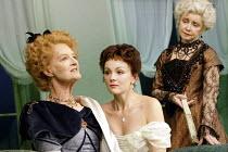 'A WOMAN OF NO IMPORTANCE' (Oscar Wilde - director: Adrian Noble   designer: Peter McKintosh)~l-r: Caroline Blakiston (Lady Caroline Pontefract), Rachael Stirling (Hester Worsley), Prunella Scales (La...