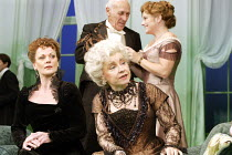 'A WOMAN OF NO IMPORTANCE' (Oscar Wilde - director: Adrian Noble   designer: Peter McKintosh)~l-r: Samantha Bond (Mrs Arbuthnot), Prunella Scales (Lady Hunstanton) with (rear) Ralph Nossek (Sir John P...