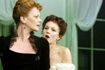 'A WOMAN OF NO IMPORTANCE' (Oscar Wilde - director: Adrian Noble   designer: Peter McKintosh)~l-r: Samantha Bond (Mrs Arbuthnot), Rachael Stirling (Hester Worsley)~Theatre Royal Haymarket / London SW1...