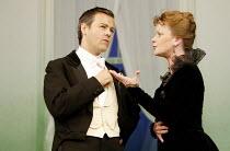 'A WOMAN OF NO IMPORTANCE' (Oscar Wilde - director: Adrian Noble   designer: Peter McKintosh)~Rupert Graves (Lord Illingworth), Samantha Bond (Mrs Arbuthnot)~Theatre Royal Haymarket / London SW1...