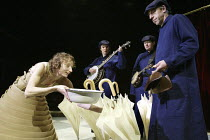 'THE WOODEN FROCK' (adapted by Tom Morris & Emma Rice - direction: Emma Rice)~feeding �geese': Amanda Lawrence (Mary)~Kneehigh Theatre & BAC / West Yorkshire Playhouse, Leeds           04/02/2004