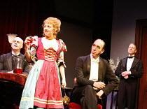 YOU NEVER CAN TELL   by GB Shaw - director: Peter Hall,l-r: William Chubb (Finch M'Comas), Sinead Matthews (Dolly), Michael Mears (Bohun), Edward Fox (Waiter),Theatre Royal Bath             25/08/2005...