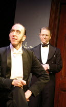 YOU NEVER CAN TELL   by GB Shaw - director: Peter Hall,l-r: Michael Mears (Bohun), Edward Fox (Waiter),Theatre Royal Bath             25/08/2005        transfer to Garrick Theatre, London WC2  07/11/2...