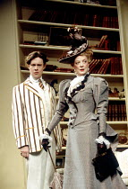 THE IMPORTANCE OF BEING EARNEST  by Oscar Wilde  design: Bob Crowley  lighting: Paul Pyant  director: Nicholas Hytner Alex Jennings (John Worthing/Jack), Maggie Smith (Lady Bracknell) Aldwych Theatr...
