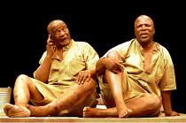 'THE ISLAND' (Fugard)~l-r: Winston Ntshona, John Kani~RNT/Lyttelton Theatre, London  26/01/2000
