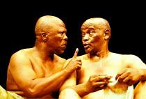 'THE ISLAND' (Fugard)~l-r: John Kani, Winston Ntshona~RNT/Lyttelton Theatre, London  01/2000