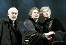 'JOHN GABRIEL BORKMAN' (Ibsen)~l-r: Michael Pennington (John Gabriel Borkman), Gillian Barge (Gunhild Borkman), Linda Bassett (Ella Rentheim)~English Touring Theatre / Greenwich Theatre, London SE10...