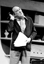JUMPERS by Tom Stoppard set design: Patrick Robertson costumes: Rosemary Vercoe lighting: Robert Bryan director: Peter Wood ~Michael Hordern (George)~National Theatre / Old Vic Theatre, London SE1 02/...