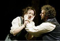 'THE TAMING OF THE SHREW' (Shakespeare)~Alexandra Gilbreath (Katherine), Jasper Britton (Petruchio)~Royal Shakespeare Company / Royal Shakespeare Theatre, Stratford-upon-Avon            09/04/2003
