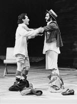 THE TAMING OF THE SHREW   by Shakespeare   director: Barry Kyle,l-r: Mark Rylance (Lucentio), John Bowe (Tranio),Royal Shakespeare Company / Royal Shakespeare Theatre, Stratford-upon-Avon...