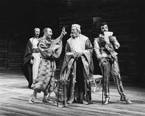 THE TAMING OF THE SHREW   by Shakespeare   director: Barry Kyle,l-r: John Carlisle (Gremio), David Shaw-Parker (Biondello), David Waller (Baptista), John Bowe (Tranio),Royal Shakespeare Company / Roya...
