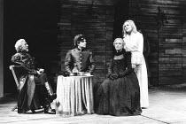 THE TAMING OF THE SHREW   by Shakespeare   director: Barry Kyle,l-r: John Carlisle (Gremio), Ian Talbot (Hortensio), Stephanie Fayerman (A Widow), Sinead Cusack (Katherine),Royal Shakespeare Company /...