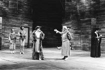 THE TAMING OF THE SHREW   by Shakespeare   director: Barry Kyle,l-r: David Shaw-Parker (Biondello), John Bowe (Tranio), Raymond Bowers (Lord), David Waller (Baptista), Mark Rylance (Lucentio),Royal Sh...