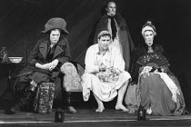 THE TAMING OF THE SHREW   by Shakespeare - director: Di Trevis <br>~l-r: Nick Dunning (Tranio), Michael Troughton (Christopher Sly), Edward Harbour (Lord), Paul McCleary (Bartholomew) ~Royal Shakespea...