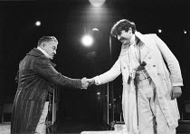 THE TAMING OF THE SHREW   by Shakespeare - director: Di Trevis <br>~l-r: Wolfe Morris (Baptista Minola), Alfred Molina (Petruchio) ~Royal Shakespeare Company (RSC), Regional Tour 1985/86~(c) Donald Co...
