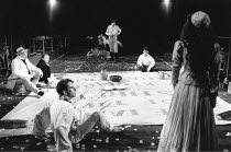 THE TAMING OF THE SHREW   by Shakespeare - director: Di Trevis <br>~far left: Wolfe Morris (Baptista Minola)   rear centre: Alfred Molina (Petruchio) ~Royal Shakespeare Company (RSC), Regional Tour 19...