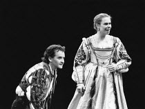 THE TAMING OF THE SHREW   by Shakespeare    design: Tim Goodchild  director: Bill Alexander <br> ~Anton Lesser (Petruchio), Amanda Harris (Katherine) ~Royal Shakespeare Company (RSC), Royal Shakespear...