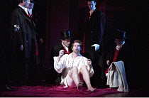 THE TAMING OF THE SHREW   by Shakespeare - director: Gale Edwards,Induction - Sly dressed in finery: centre: Michael Siberry (Christopher Sly),Royal Shakespeare Company / Royal Shakespeare Theatre   S...